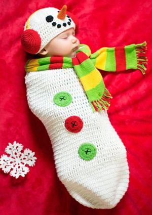 Baby Crochet Cocoon Snow Baby Costume