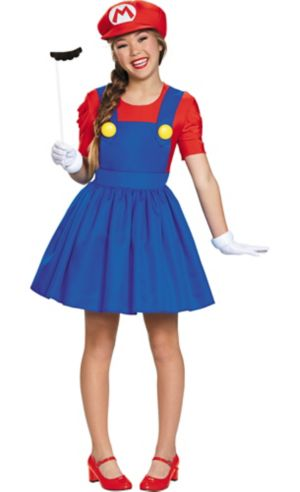 Tween Girls Miss Mario Costume - Super Mario Brothers