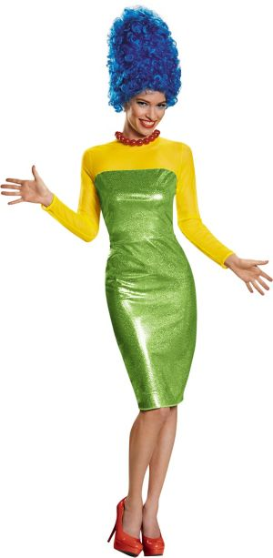 Adult Marge Simpson Costume Premium - The Simpsons