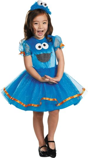 Toddler Girls Cookie Monster Tutu Costume Deluxe - Sesame Street