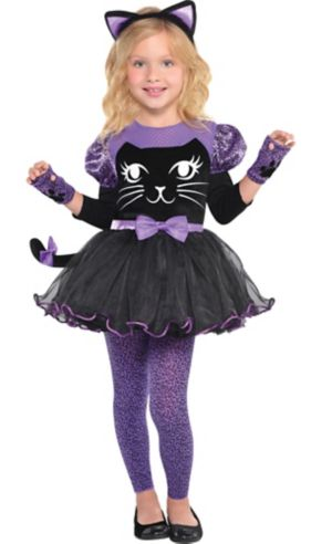 Girls Miss Meow Cat Costume