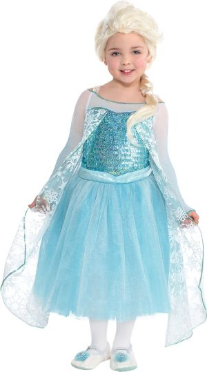 Toddler Girls Elsa Costume Premier Frozen Size 3 5