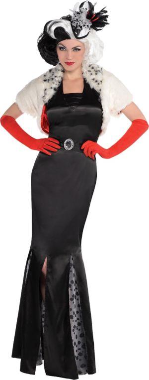 adult cruella de vil costume 101 dalmatians party city. Black Bedroom Furniture Sets. Home Design Ideas