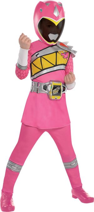 Little Girls Pink Ranger Costume - Power Rangers Dino Charge