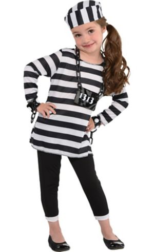 Little Girls Trouble Maker Prisoner Costume