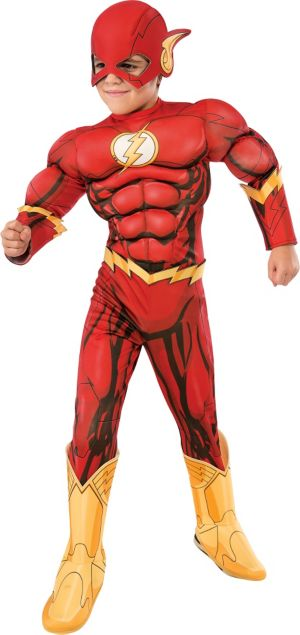 Boys The Flash Muscle Costume Deluxe - The Flash Comic Book