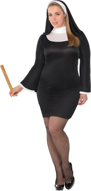 Adult Blessed Babe Nun Costume Plus Size