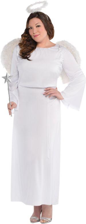 Adult Heaven Sent Angel Costume Plus Size