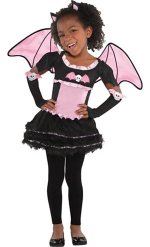 Toddler Girls Bat to the Bone Bat Costume