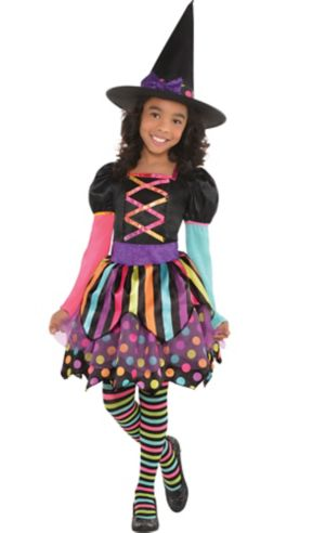 Girls Miss Matched Witch Costume