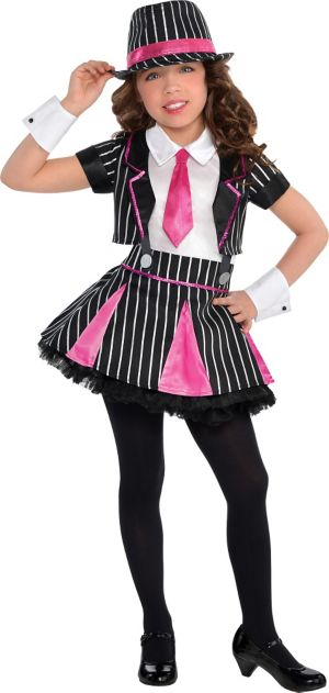 Little Girls Mob Doll Gangster Costume