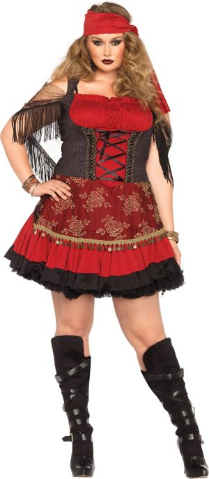 Adult Mystic Vixen Gypsy Costume Plus Size