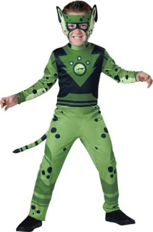 Boys Green Cheetah Muscle Costume - Wild Kratts