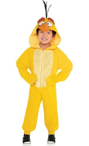 Little Boys Zipster Chuck Angry Bird One Piece Costume - The Angry Birds Movie