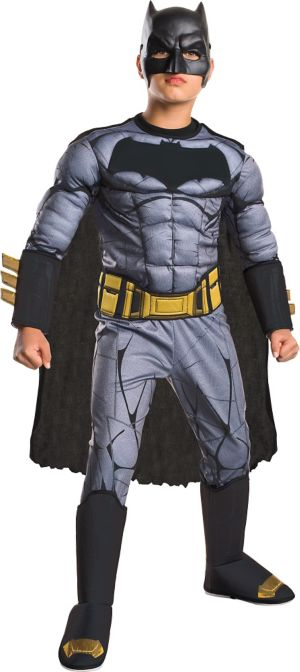 Boys Batman Muscle Costume Deluxe - Batman v Superman: Dawn of Justice