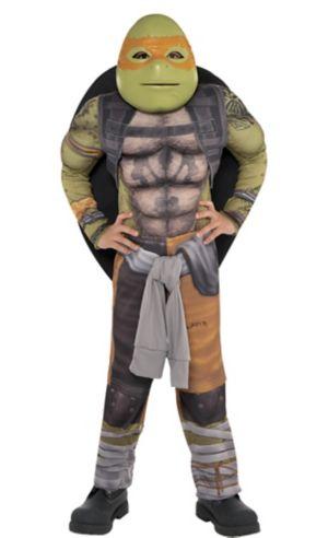 Little Boys Michelangelo Muscle Costume - Teenage Mutant Ninja Turtles 2