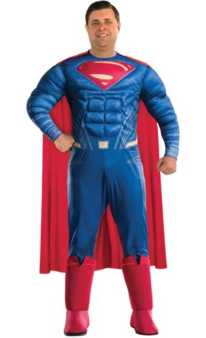 Adult Superman Muscle Costume Plus Size - Batman v Superman: Dawn of Justice