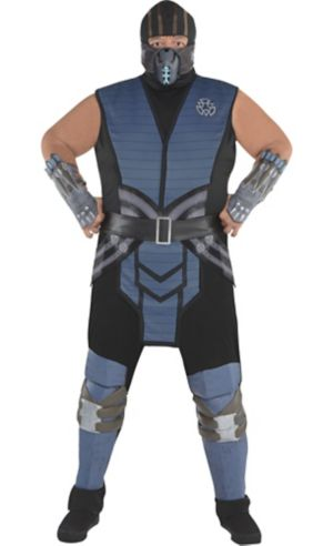 Adult Sub-Zero Costume Plus Size - Mortal Kombat