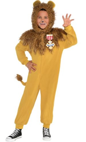 Boys Zipster Cowardly Lion One Piece Costume - The Wizard of Oz
