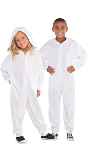 Child Zipster White One Piece Costume