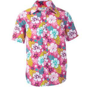 Child Pink Hawaiian Shirt