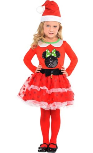 Girls Holiday Minnie Mouse Costume