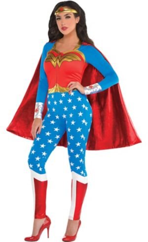 Adult Wonder Woman Jumpsuit Costume