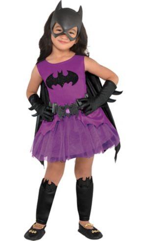 Toddler Girls Purple Batgirl Costume - Batman