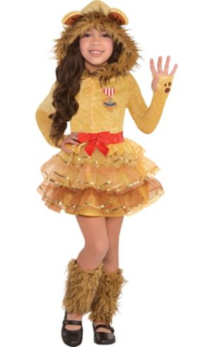 Little Girls Cowardly Lion Costume - Wizard of Oz