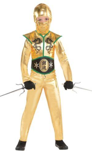 Toddler Boys Gold Fighter Ninja Costume