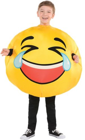 Child Inflatable Laughing Crying Smiley Costume