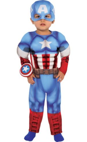 Baby Captain America Muscle Costume