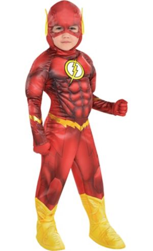 Little Boys The Flash Muscle Costume - DC Comics New 52