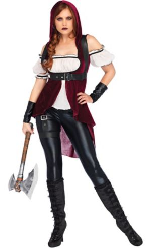 Adult Rebel Red Huntress Costume