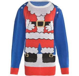 Adult Santa Suit Ugly Christmas Sweater
