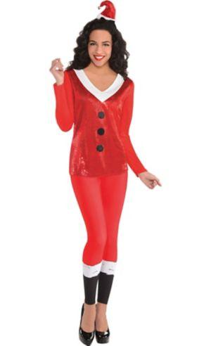 Adult Sequin Santa Long-Sleeve Shirt
