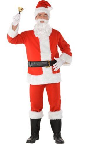 Adult Flannel Santa Suit Costume Kit
