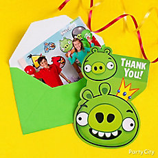 Angry Birds Thank You Note Idea