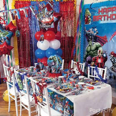 avengers balloon garland idea party city. Black Bedroom Furniture Sets. Home Design Ideas