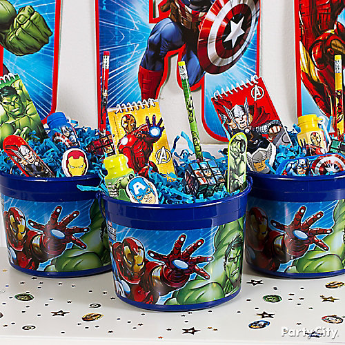 Avengers Favor Bucket Idea