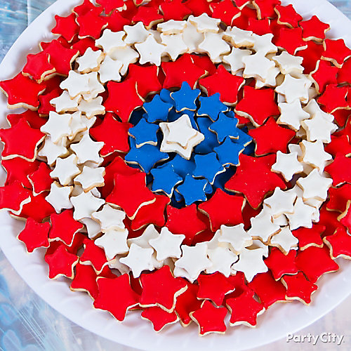 Captain America Shield Cookies Idea Party City