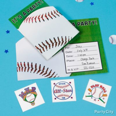 Baseball Rawlings Invite Idea