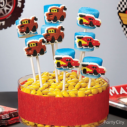 Cars Marshmallow Pops How To