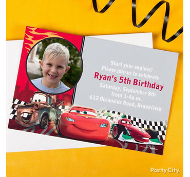 Cars Custom Invite & Thank You Idea