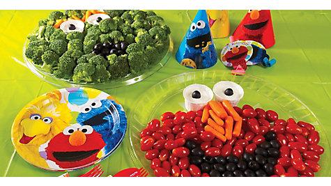 Elmo Face Veggie Platters Idea