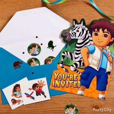 Go Diego, Go! Invite with Surprise Idea