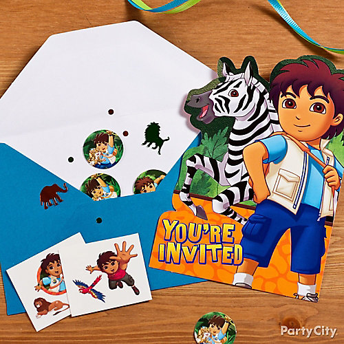 Go Diego, Go! Invite with Surprise Idea