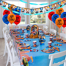Hot Wheels Party Table Idea