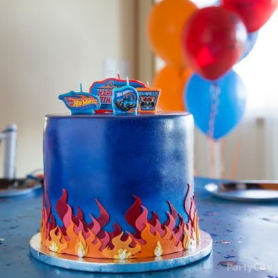 Hot Wheels Cake How-To