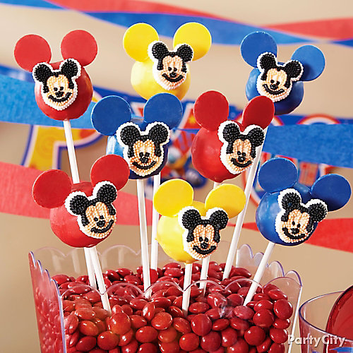 Mickey Mouse Doughnut Pops How To